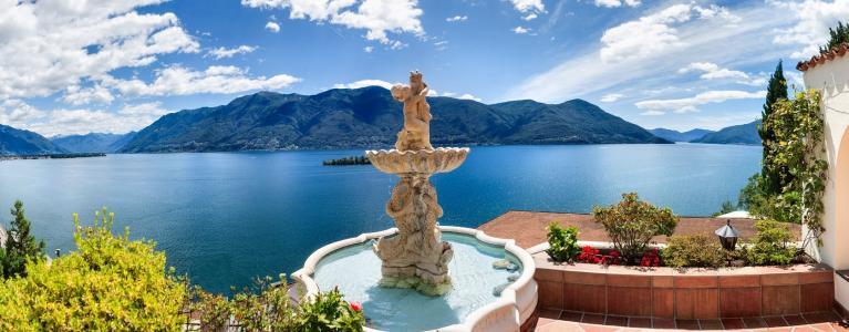 Fontana del Boutique Hotel La Rocca a Ronco sopra Ascona
